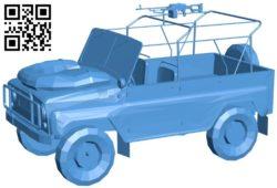 Car UAZ 469 military B006581 file stl free download 3D Model for CNC and 3d printer
