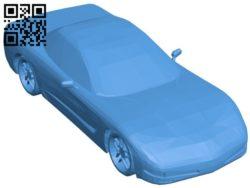 Car corvette B006541 file stl free download 3D Model for CNC and 3d printer