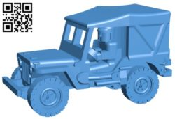 Car jeep closed B006580 file stl free download 3D Model for CNC and 3d printer