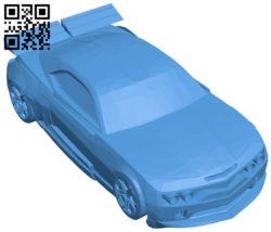 Car of Mustang B006389 file stl free download 3D Model for CNC and 3d printer