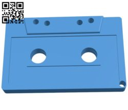 Cassette KeyChain B006490 file stl free download 3D Model for CNC and 3d printer