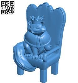 Cat Lord B006301 download free stl files 3d model for 3d printer and CNC carving