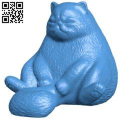 Cat sit B006325 download free stl files 3d model for 3d printer and CNC carving