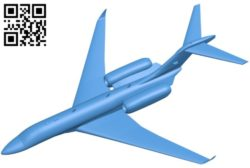 Cessna 750 airplane B006322 download free stl files 3d model for 3d printer and CNC carving