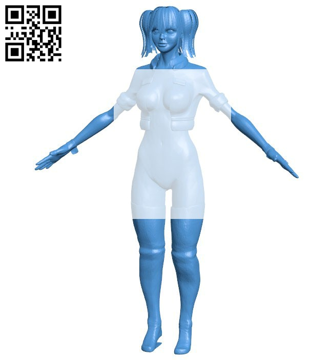 Character girl B006403 file stl free download 3D Model for CNC and 3d printer
