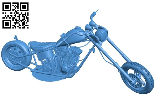 Chopper Harley Motorbike B006438 file stl free download 3D Model for CNC and 3d printer