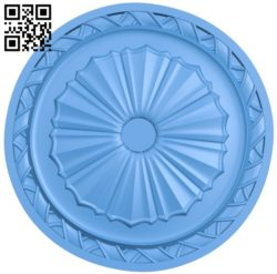 Circular disk pattern A004398 download free stl files 3d model for CNC wood carving