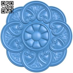 Circular disk pattern A004400 download free stl files 3d model for CNC wood carving