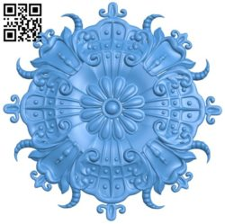 Circular disk pattern A004442 download free stl files 3d model for CNC wood carving