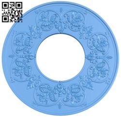 Circular disk pattern A004511 download free stl files 3d model for CNC wood carving