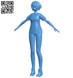 City girl B006439 file stl free download 3D Model for CNC and 3d printer