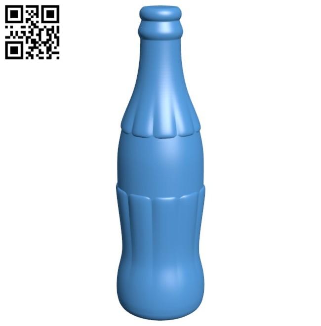 Coca Cola bottle B006450 file stl free download 3D Model for CNC and 3d printer