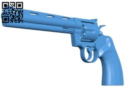 Colt Python gun B006310 download free stl files 3d model for 3d printer and CNC carving