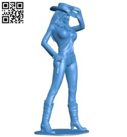 Cow girl B006393 file stl free download 3D Model for CNC and 3d printer