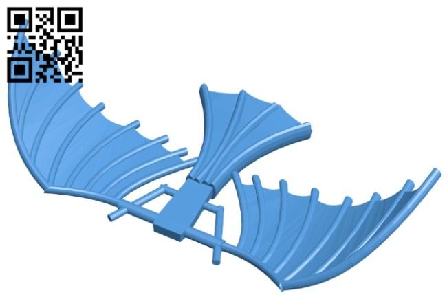 Da vinci flight machine B006429 file stl free download 3D Model for CNC and 3d printer