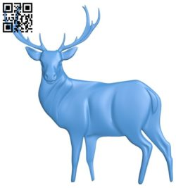 Deer A004421 download free stl files 3d model for CNC wood carving