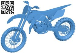 Dirt Bike B006312 download free stl files 3d model for 3d printer and CNC carving