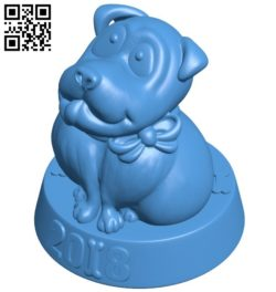 Dog B006445 file stl free download 3D Model for CNC and 3d printer