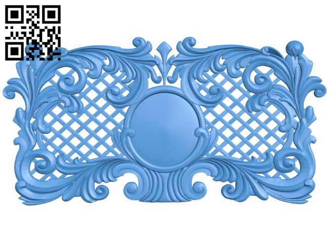 Door pattern design A004502 download free stl files 3d model for CNC wood carving