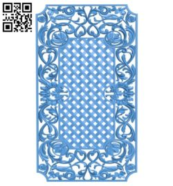 Door pattern design A004503 download free stl files 3d model for CNC wood carving