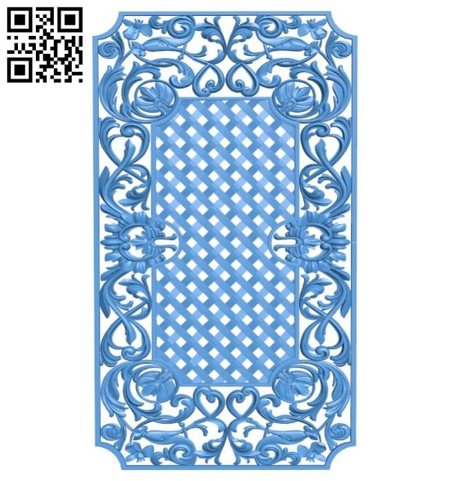 Door pattern design A004503 download free stl files 3d model for CNC wood carving