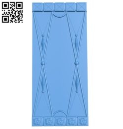 Door pattern design A004504 download free stl files 3d model for CNC wood carving