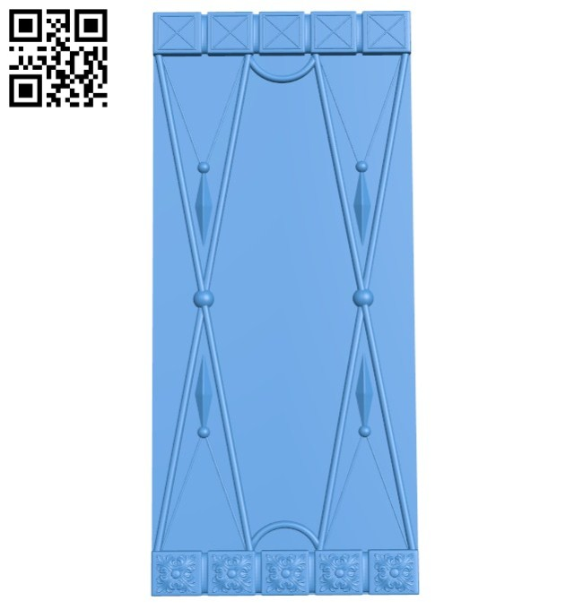 Door pattern design A004504 download free stl files 3d model for CNC wood carving
