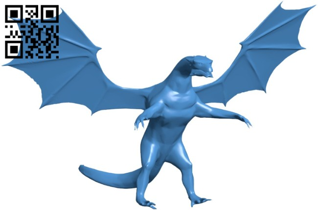 Dragon low poly B006398 file stl free download 3D Model for CNC and 3d printer