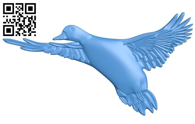 Duck A004420 download free stl files 3d model for CNC wood carving