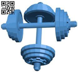 Dumbbells B006542 file stl free download 3D Model for CNC and 3d printer