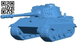 E75 tank B006318 download free stl files 3d model for 3d printer and CNC carving