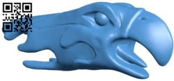 Eagle head B006339 download free stl files 3d model for 3d printer and CNC carving