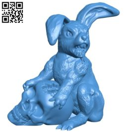 Easter bunny B006552 file stl free download 3D Model for CNC and 3d printer