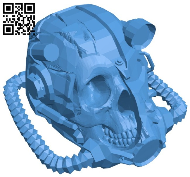 Fallout battle head B006443 file stl free download 3D Model for CNC and 3d printer
