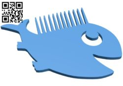 Fantasy combs ocean – fish B006394 file stl free download 3D Model for CNC and 3d printer