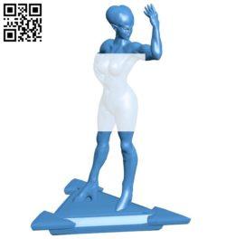Female alien B006577 file stl free download 3D Model for CNC and 3d printer