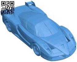 Ferrari FXX Car B006409 file stl free download 3D Model for CNC and 3d printer
