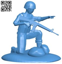 Figure of soldier B006416 file stl free download 3D Model for CNC and 3d printer