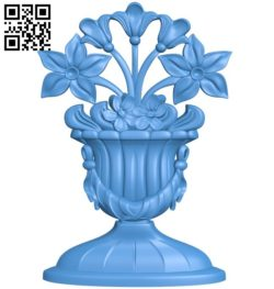 Flower vase pattern A004431 download free stl files 3d model for CNC wood carving