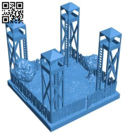 Fort – house B006362 file stl free download 3D Model for CNC and 3d printer