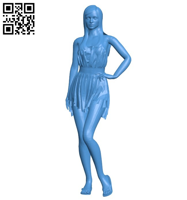 Girl in sandals B006401 file stl free download 3D Model for CNC and 3d printer