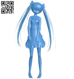 Girl in sleepwear B006388 file stl free download 3D Model for CNC and 3d printer