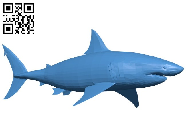 Great white shark B006413 file stl free download 3D Model for CNC and 3d printer