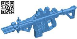 Gun SMG B006355 file stl free download 3D Model for CNC and 3d printer