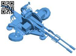 Gun ZU-23-2 B006376 file stl free download 3D Model for CNC and 3d printer