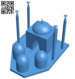 Hagia sophia – House B006461 file stl free download 3D Model for CNC and 3d printer