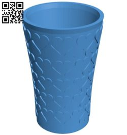 Heart vase B006514 file stl free download 3D Model for CNC and 3d printer