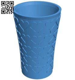 Heart vase B006514 file stl free download 3D Model for CNC and 3d printer