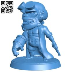 Hellboy B006340 download free stl files 3d model for 3d printer and CNC carving