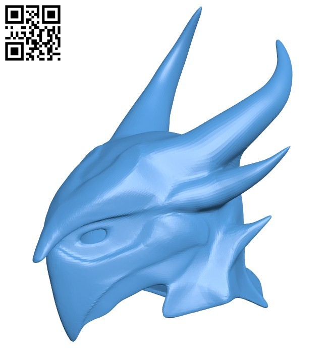 Helmet Daedric Skyrim B006435 file stl free download 3D Model for CNC and 3d printer